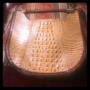 Camel and brown Brahmin handbag